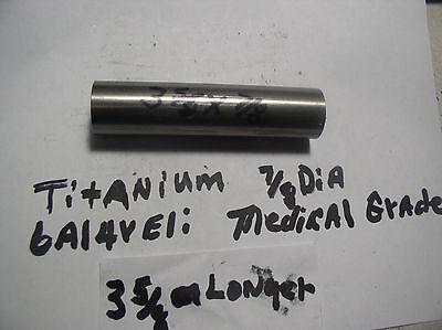 78titanium Round Rod Bar 78 Dia.x 3 58 Medical Grade 6al-4veli 23