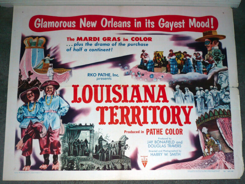 MARDI GRAS PARADE original 1953 Poster NEW ORLEANS LOUISIANA Documentary Movie