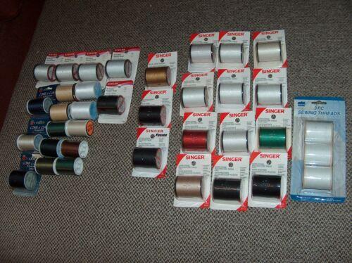 Lot of 36 Rolls of Thread - Singer  Coats & Clark