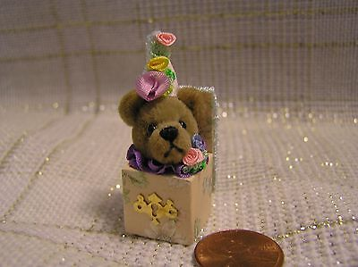 World of Miniature Bears - JACK in the BOX - 1.25 Mini Handcrafted Bear toy