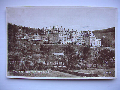 Peebles – The Hydropathic Hotel. (Valentine's Photo Brown Post Card – 1940s)