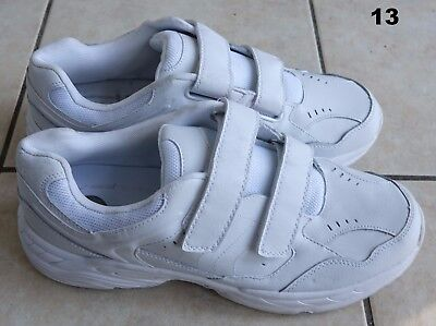 - BCG white leather/mesh Men's walking sneaker Shoes no tie closures, 9,9.5 or 13