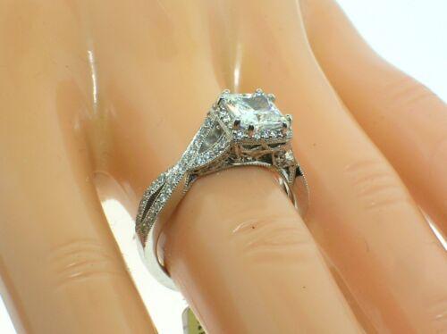 Tacori 18k Mounting 2627pr With 0.43 Ctw Diamonds-new- Size 6.5 Us- Retail $4510