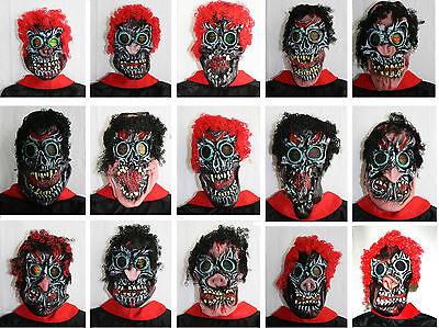 Halloween Gesicht (5x Maske Karneval Fasching Gesicht Monster Zombie Horror Grusel Halloween Neu)