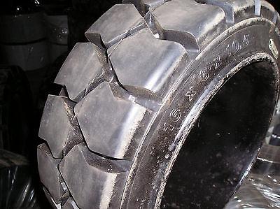 (2-Tires) Advance 16x6x10-1/2 solid forklift press on tire 16610 1/2 16x6x10.5