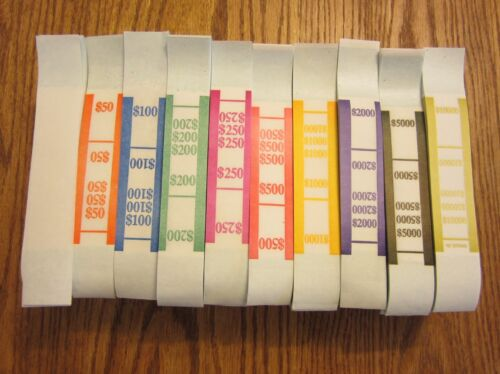 2000  SELF SEALING CURRENCY STRAPS  MONEY BILL BANDS STRAP PMC COMPANY BRAND