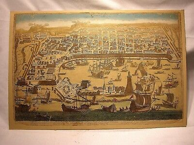 17th C. MAP OF MESSINE (MESSINA) HAND COLORED - RARE MAP - BEST (Best Map Of Italy)