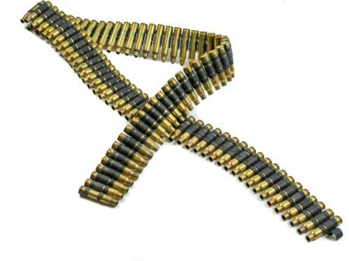 Bullet Belt Brass Shell No Tips 223 Caliber Silver Linked Punk Rock Thrash