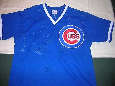 Vintage 1980's Chicago Cubs Majestic batting practice game worn used jersey XL Chicago Cubs Batting Practice Jersey