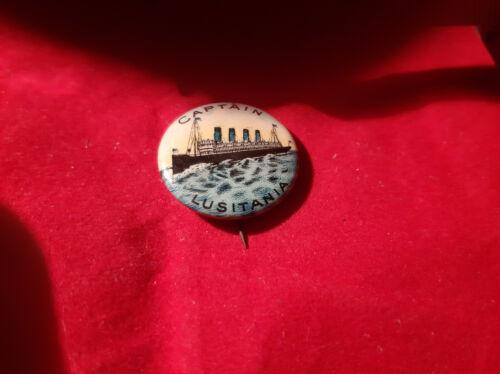 RMS Lusitania Childs Souvenir Captain Pin Cunard Interest