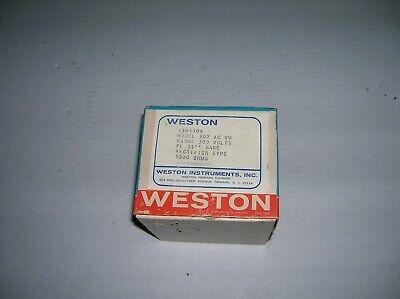 Weston Instrument Panel Mount Ac Voltmeter 0-300v Model 302 Ac Vm 1301109  S1