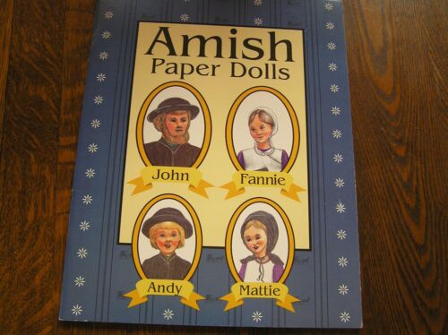 AMISH PAPER DOLLS Family of 4 w/ Background Information~~NEW & UNCUT!!