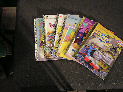 Little Golden Book lot of 6 Thomas the train,Paw Patrol,Big Bird,Snuffy,Muppets+