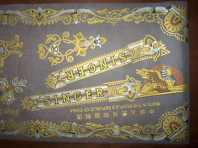 NOS SINGER Sewing Machine Decal Set SPHINX for Model 15 & Full Size Models (Set Sewing Machine)