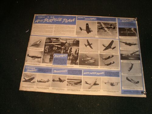 WWII War Planes and Newsmap Poster