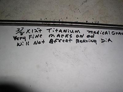 38 Titanium Round Rod 6 Al-4veli  1 Pc. 12 Long Medical Grade 23 Fine Line