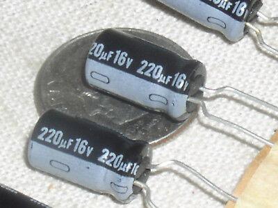 4 New Nichicon 220uf16v 220 Mfd 16 V Radial Electrolytic Capacitor Cap 105 Usa