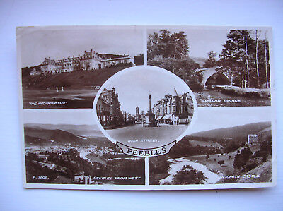 Peebles – Hydropathic, Manor Bridge, Neidpath Castle etc. (Valentine's – 1937)