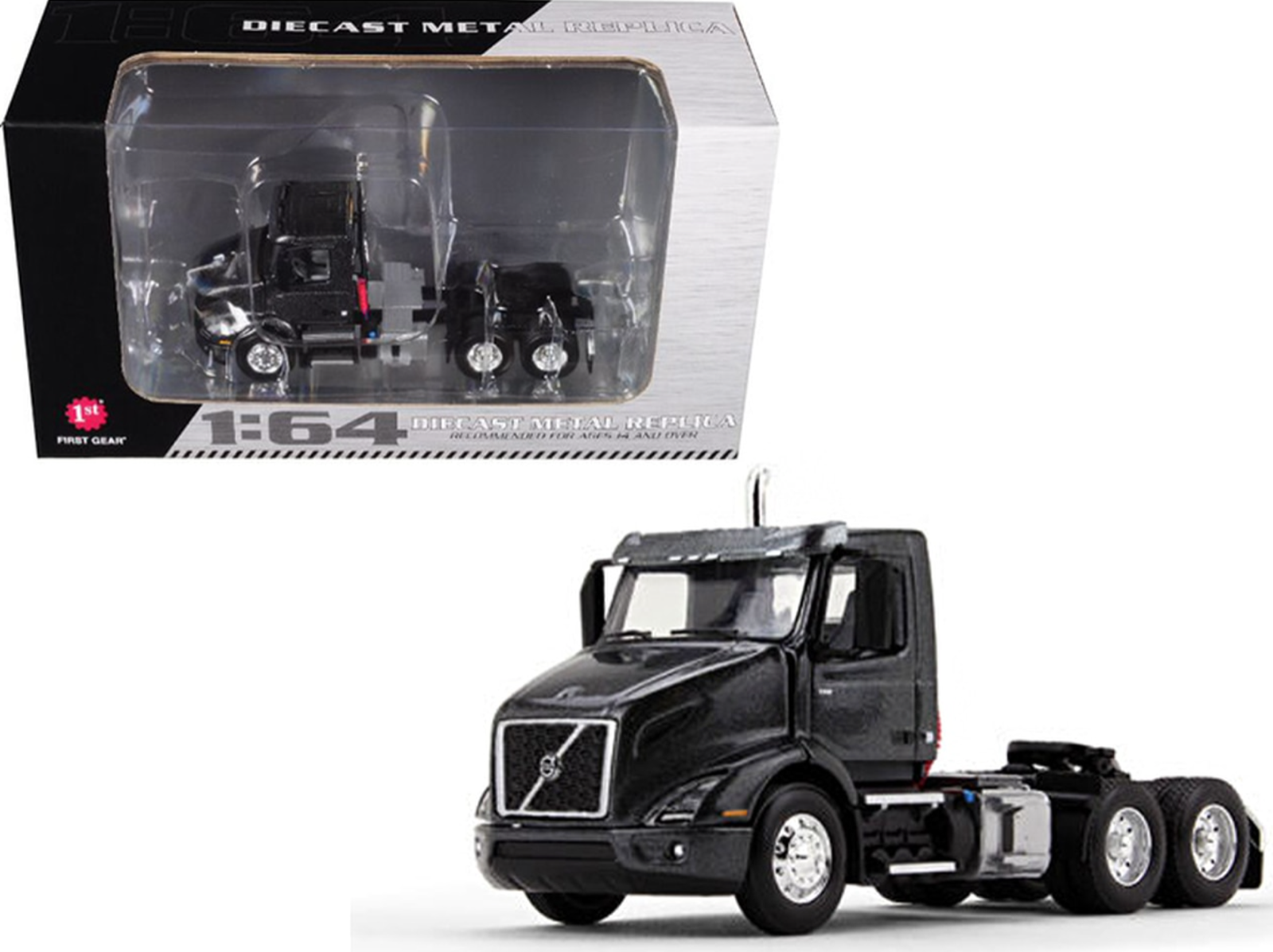 First Gear 60-0370 Volvo VNR 300 Stormy Gray Metallic Day Cab 1/64 DCP
