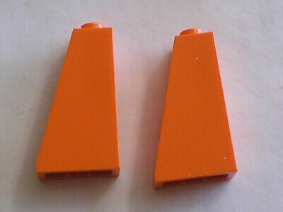 2 x LEGO Orange slope brick Réf 4460 / set 3827 4093 7991
