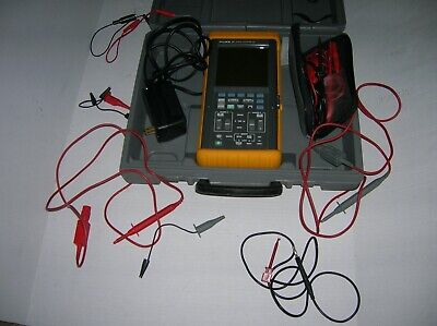 Fluke 97 2 Channel 50mhz Handheld Digital Oscilloscope Wcase And Cables S1
