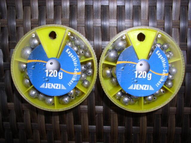 Kugelblei-Sortiment in 6 Sorten - mittig gelocht - Spenderdose mit 1 bis 7 Gramm