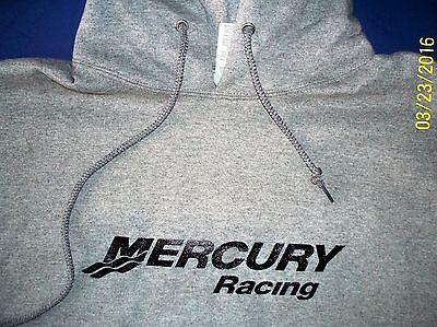 Mercury Racing Screen Printed Oxford Hooded Sweatshirt 9.5 oz. Heavy -