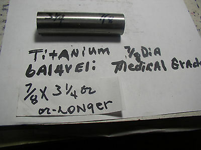 78titanium Round Rod Bar 78 Dia.x 3 14 Medical Grade 6al-4veli 23