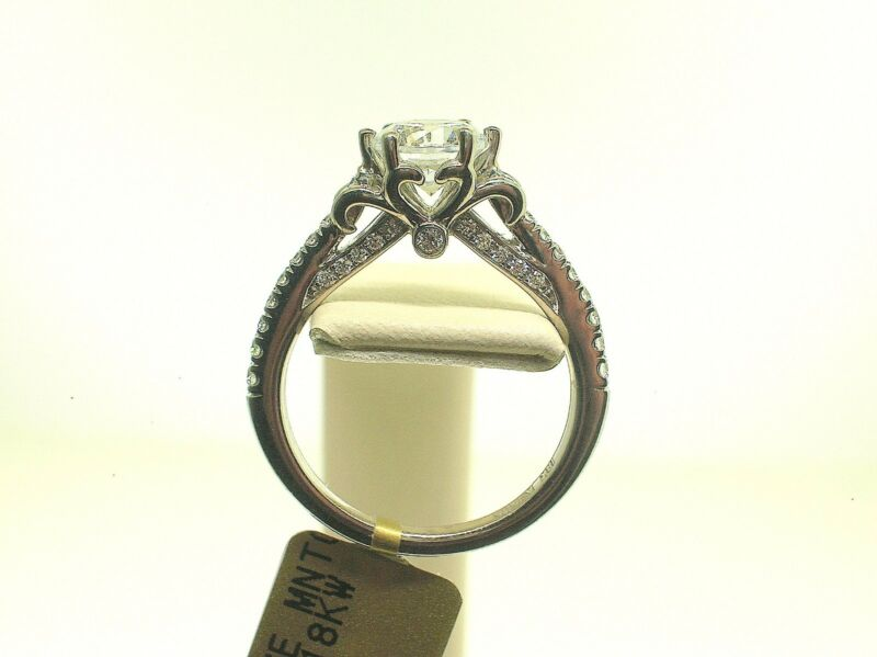 A.jafee 18k Me1556 Semi-mount 0.30 Ctw Side Diamonds-size 6 Us - Retail $2260.00