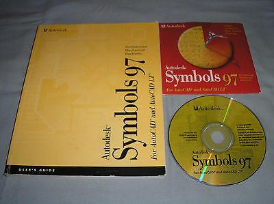 Autodesk Symbols 97 For Autocad Lt   Pc Computer Software Cd W Manual Serial No