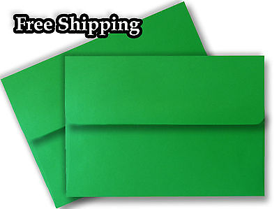 Holiday Green A7 Envelopes for 5 x 7 Invitations Announcements Weddings (Holiday Invitations)