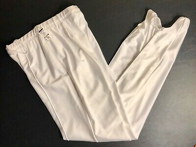 GK ELITE MENS LARGE WHITE STIRRUP PANTS GYMNASTICS COMPETITION AL NWT!