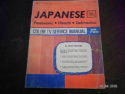VINTAGE JAPANESE COLOR TV SERVICE MANUAL..PANASONIC, HITACHI & DELMONICO...VOL - Color Tv Service Manual