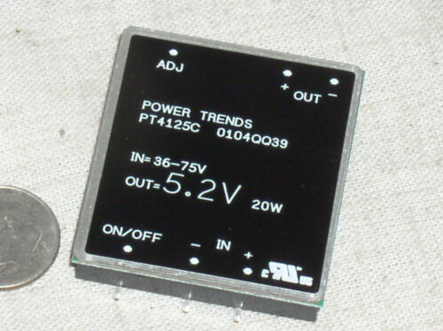 1 TI POWER TRENDS PT4125C SMT 20W DC-DC CONVERTER 36-77 INPUT 5.2V 3.8A OUT USA