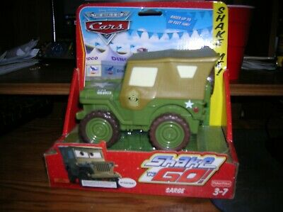 Disney Pixar Cars Sarge Shake N Go Army Jeep Green Fisher Price NEW Retired
