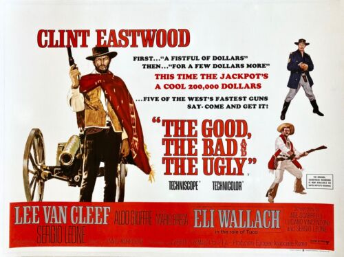 The Good the Bad and the Ugly Original 1966 Quad Poster Clint Eastwood