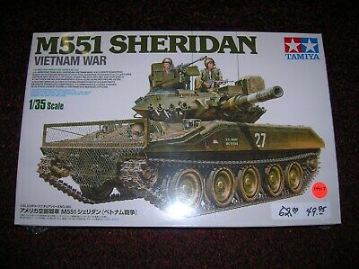 "TAMIYA  #35365 "" M551 SHERIDAN  TANK US ."" 1/35  SCALE  LIST $ 62.00 LOT # 14017 for sale  Peabody"