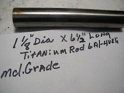 1 18 Titanium Round Rod 1 Pc.1 18 X 6 12 6al4veli Medical Grade 23