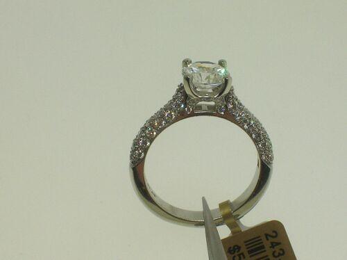 Martin Flyer Platinum #5205 Semi-mount 0.75 Ctw Diamonds Size 6.5 Us Retail$5850