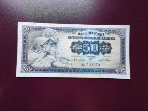 YUGOSLAVIA 50 DINARA 1965, VF/XF