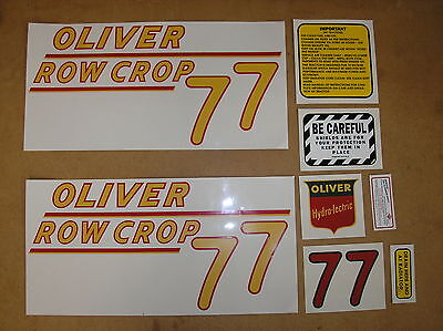Oliver 77 Row Crop New Decal Set For Tractors  18-20-308