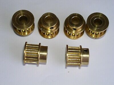 Lot Of 6 Pieces Brass Synchronous Pulley 5m12 Teeth Bore 8 Bandwidth 10 Thicknes