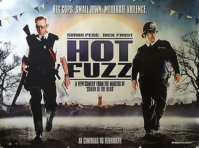 """Hot Fuzz 16"""" x 12"""" Reproduction Movie Poster Photograph 2"""