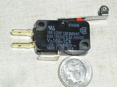 1 Omron Spdt V1661c6 Roller Lever Snap Micro Limit Switch 16a 125250 Vac Usa