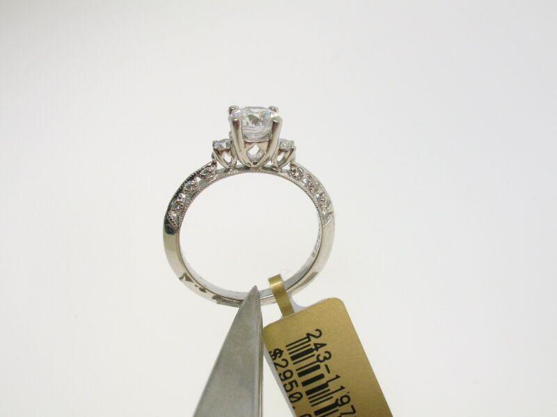 Tacori Platinum Semi-mount 0.15 Ctw Diamonds - Size 6.5 Us - Retail $2950.00!!!!