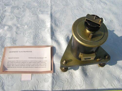 Circa 1900 Charles R. Stryker Quadrant Electrometer