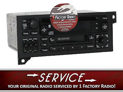 Remanufacture SERVICE for 84-02 Chrysler Jeep AM FM Radio Cassette CD Player RAZ