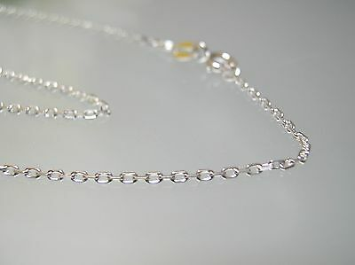 Sterling silver diamond cut cable Link chain necklace / 16 or 18 inch