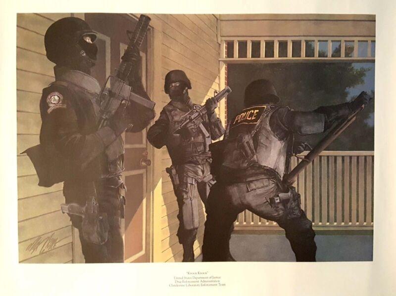 DEA Drug Enforcement Knock Knock Poster