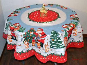 Weihnachtstischdecke rund Ø 160cm Tischdecke Weihnachten Advent NEU